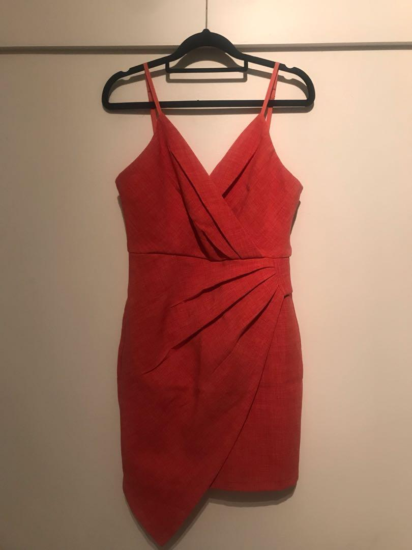 Gorgeous coral summer dress. Perfect for any kind of special occasion