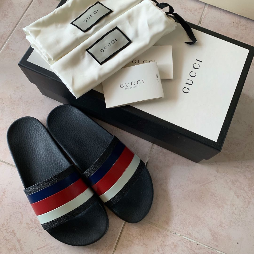 595e45362 Gucci slides, Luxury, Shoes on Carousell