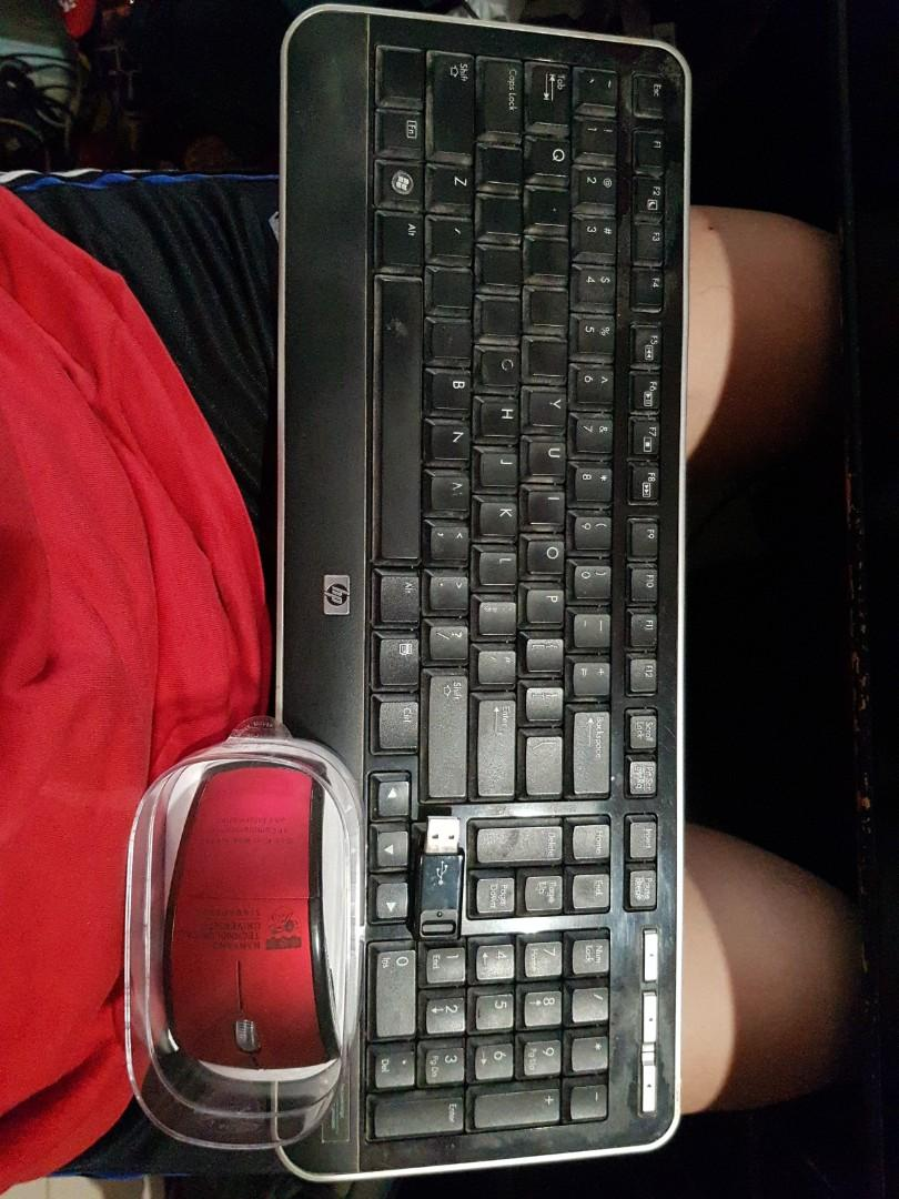 HP wireless keyboard with adapter with free mouse