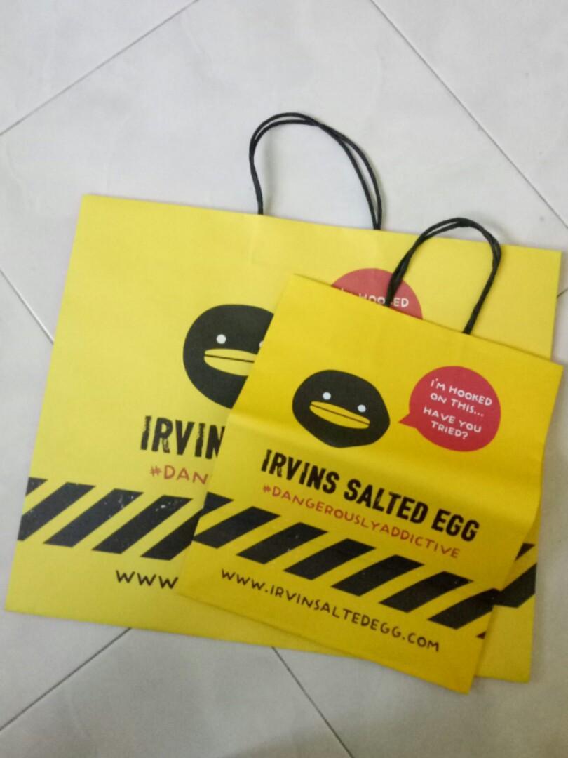Irvins Salted Egg Paper Bag