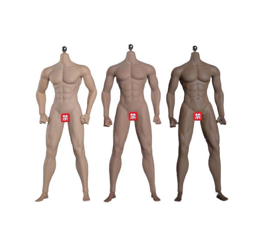 JIAOU DOLL 1//6 JOK-12D-YS Tan Skin Detachable Foot Strong Muscle Body Toys