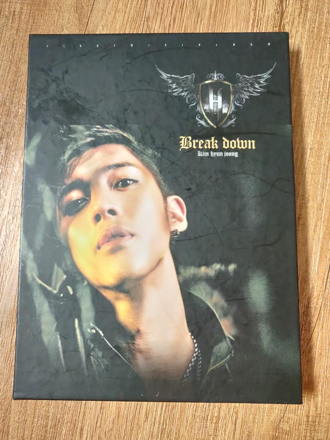 Kim Hyun Joong first mini album Break Down with Poster