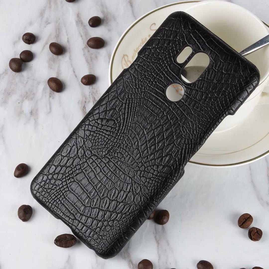 LG G7 ThinQ Cover Crocodile Skin Back Phone Case