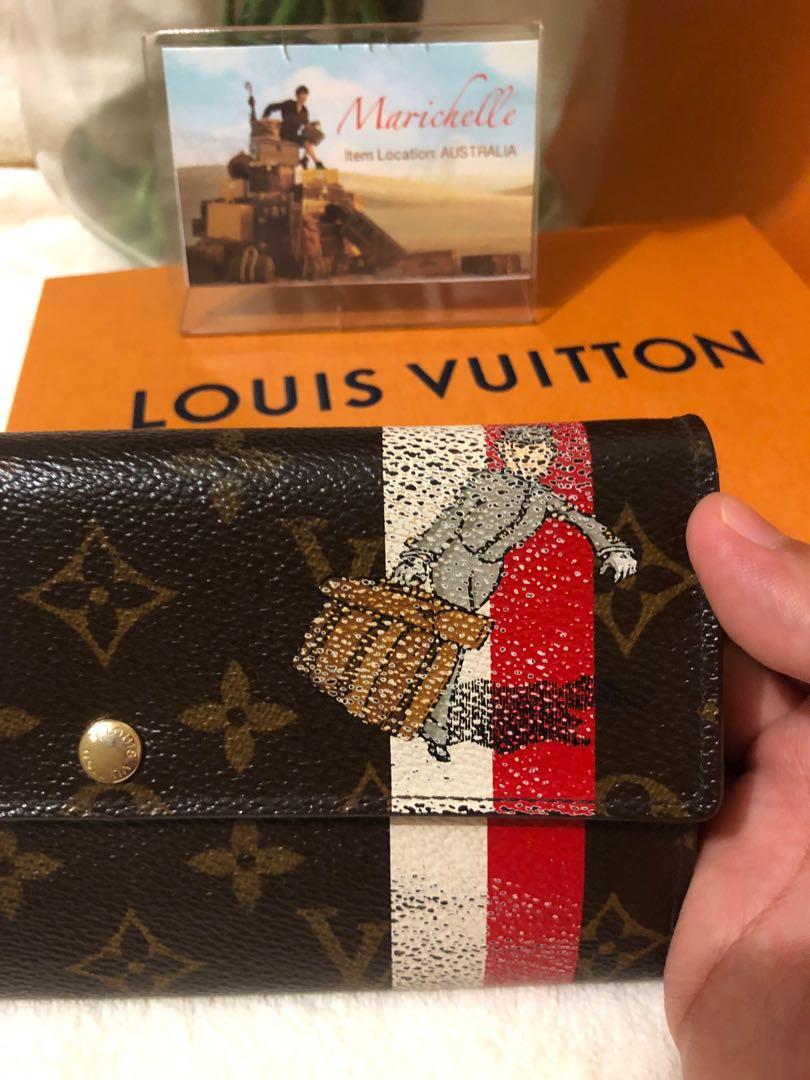 Louis Vuitton Red Monogram Groom Porte Monnaie Wallet Limited Edition