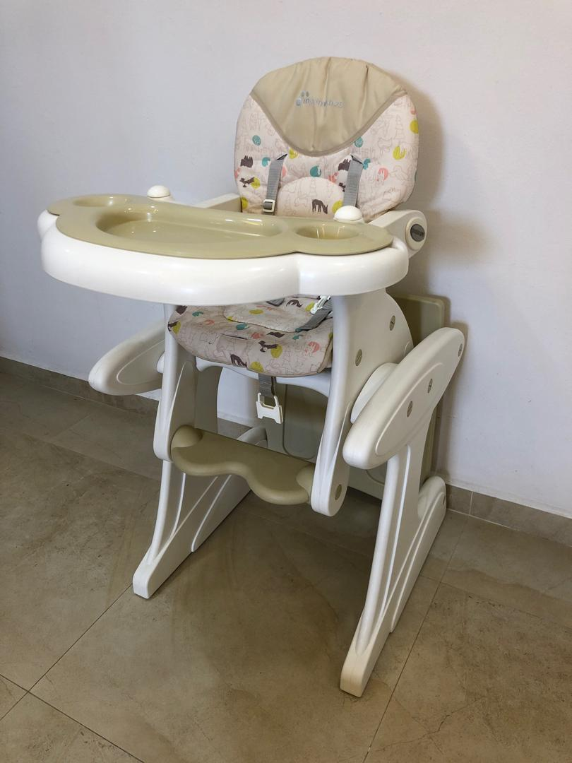 Mamalove Baby High Chair 2 In 1 Cum Study Table Babies Kids