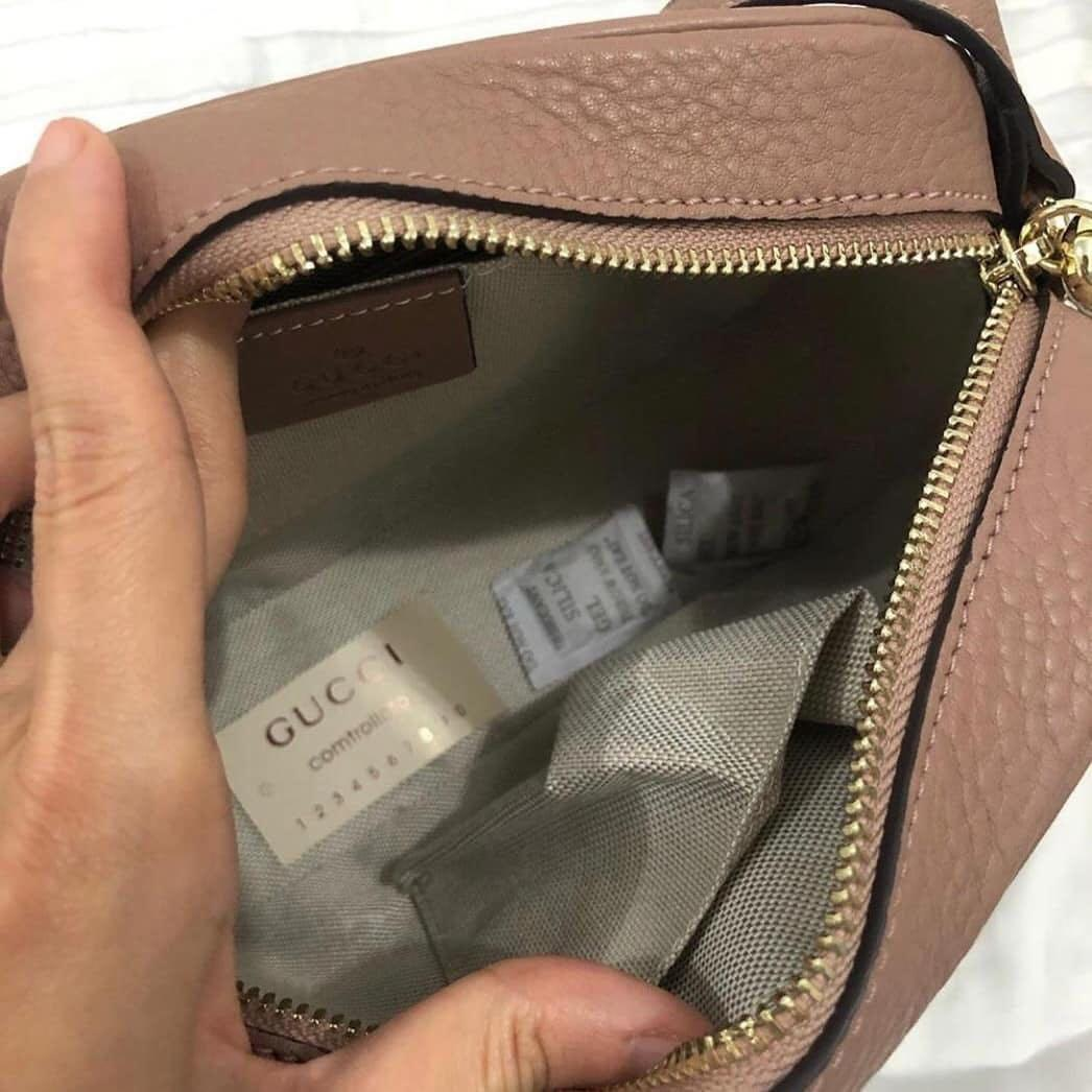 New Gucci slingbag Orileather with serial number Like New 99% & Complete sett
