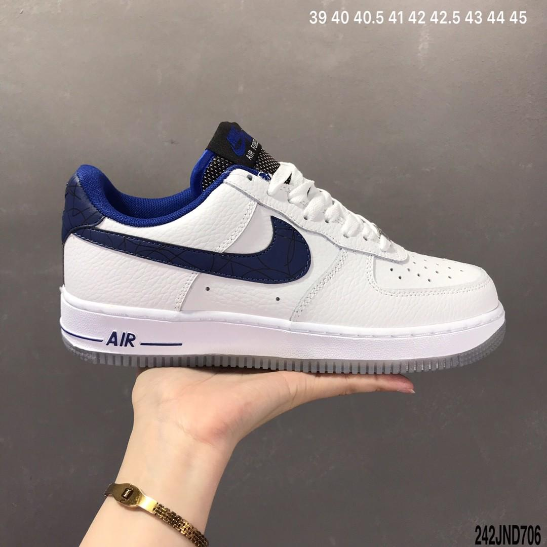 nike air force blue and white