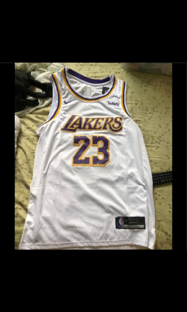 newest 33541 7fc41 Nike LeBron Lakers Jersey Replica Size L