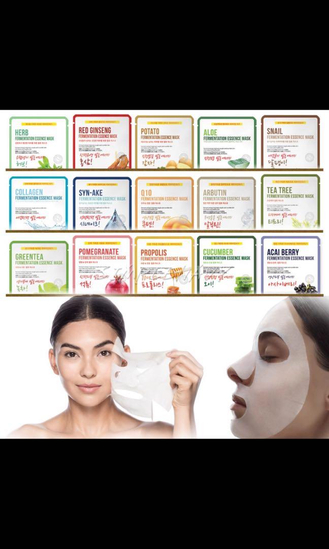 9fc245f00c0c Noblesse facial Korean skincare mask sheet moisture essence face ...