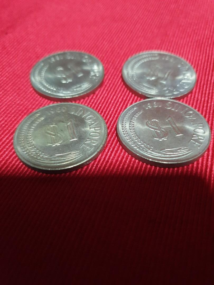 Old Coins $1 x 4 pcs