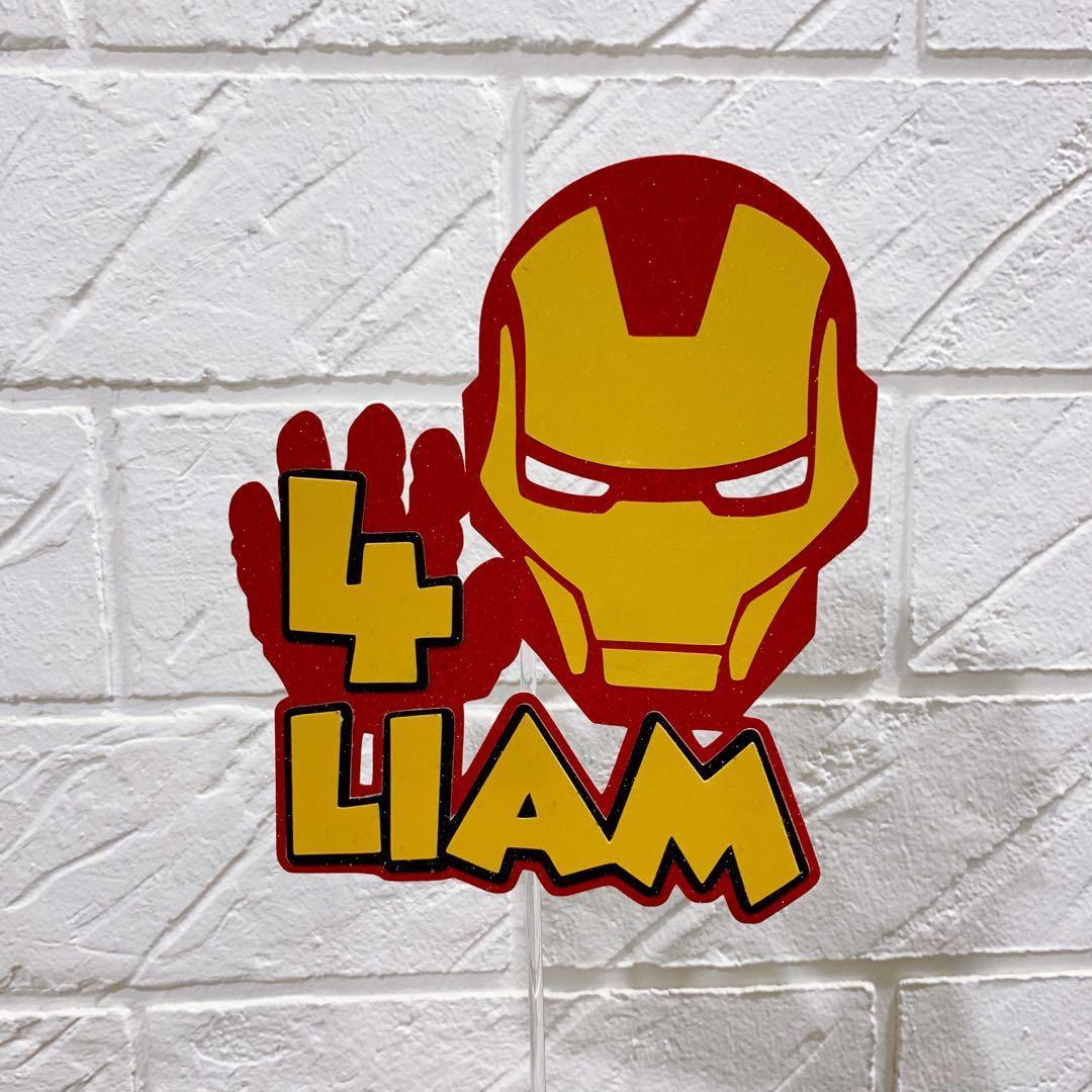 Personalised IronMan Superhero Cake Topper