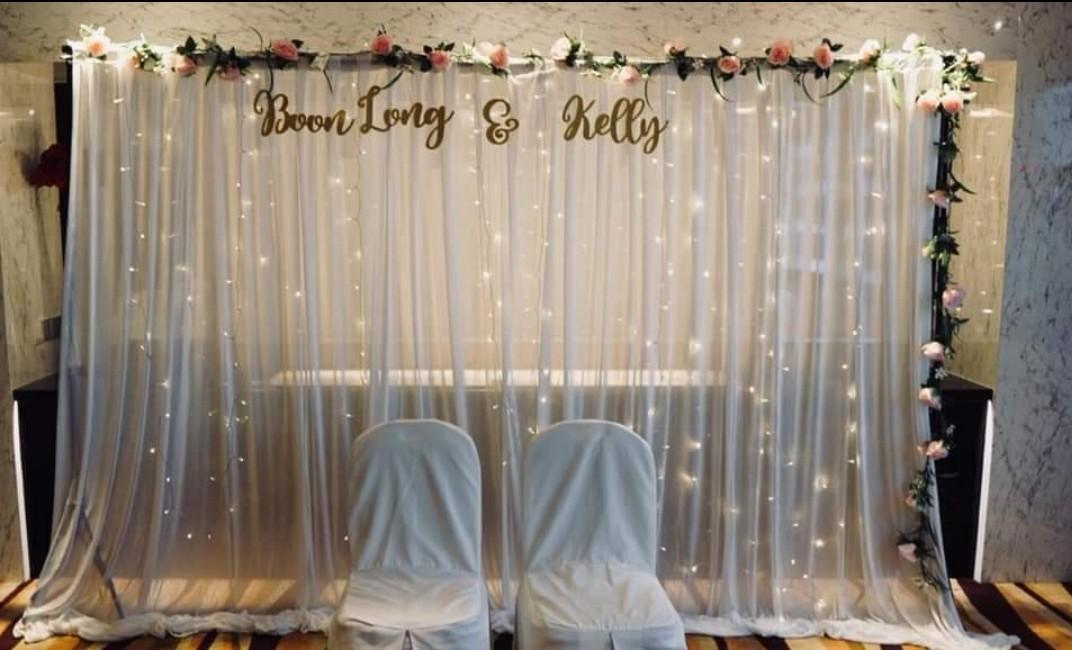 Wedding decoration - Photo album table, solemnisation, reception table, welcome signage, backdrop styling