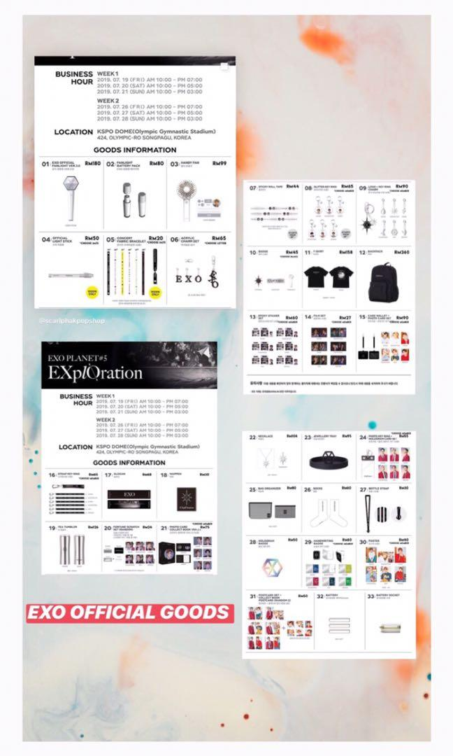 PRE ORDER - EXO PLANET#5 - EXplOration OFFICIAL GOODS
