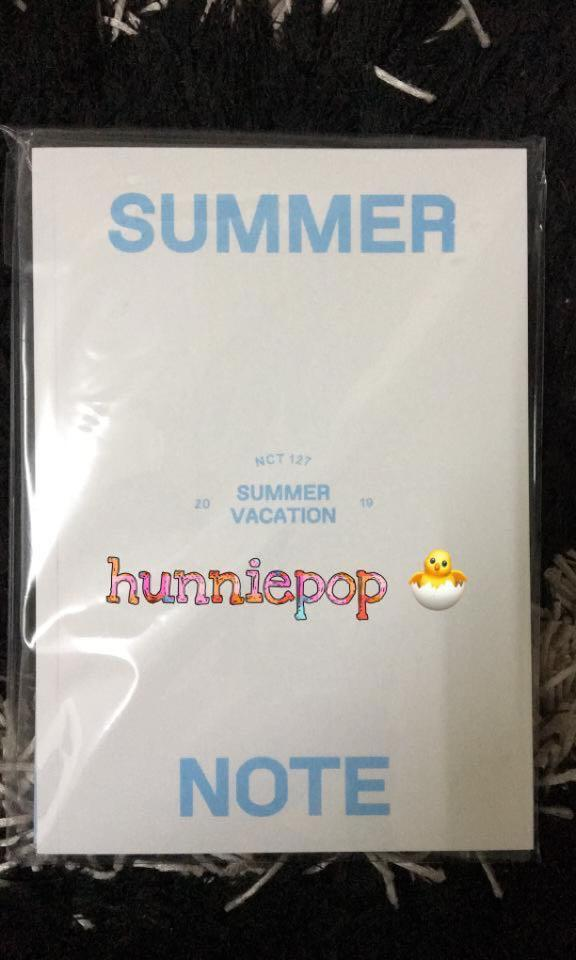 [READY STOCK] NCT127 Summer Vacation Kit - Summer Note