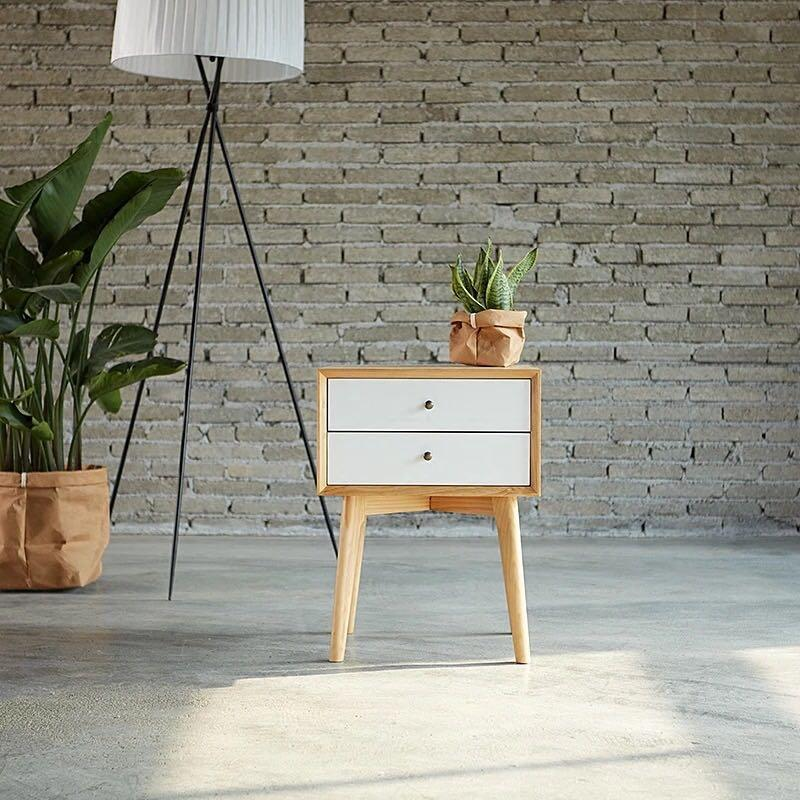 Scandinavian Bedside Table/Drawer