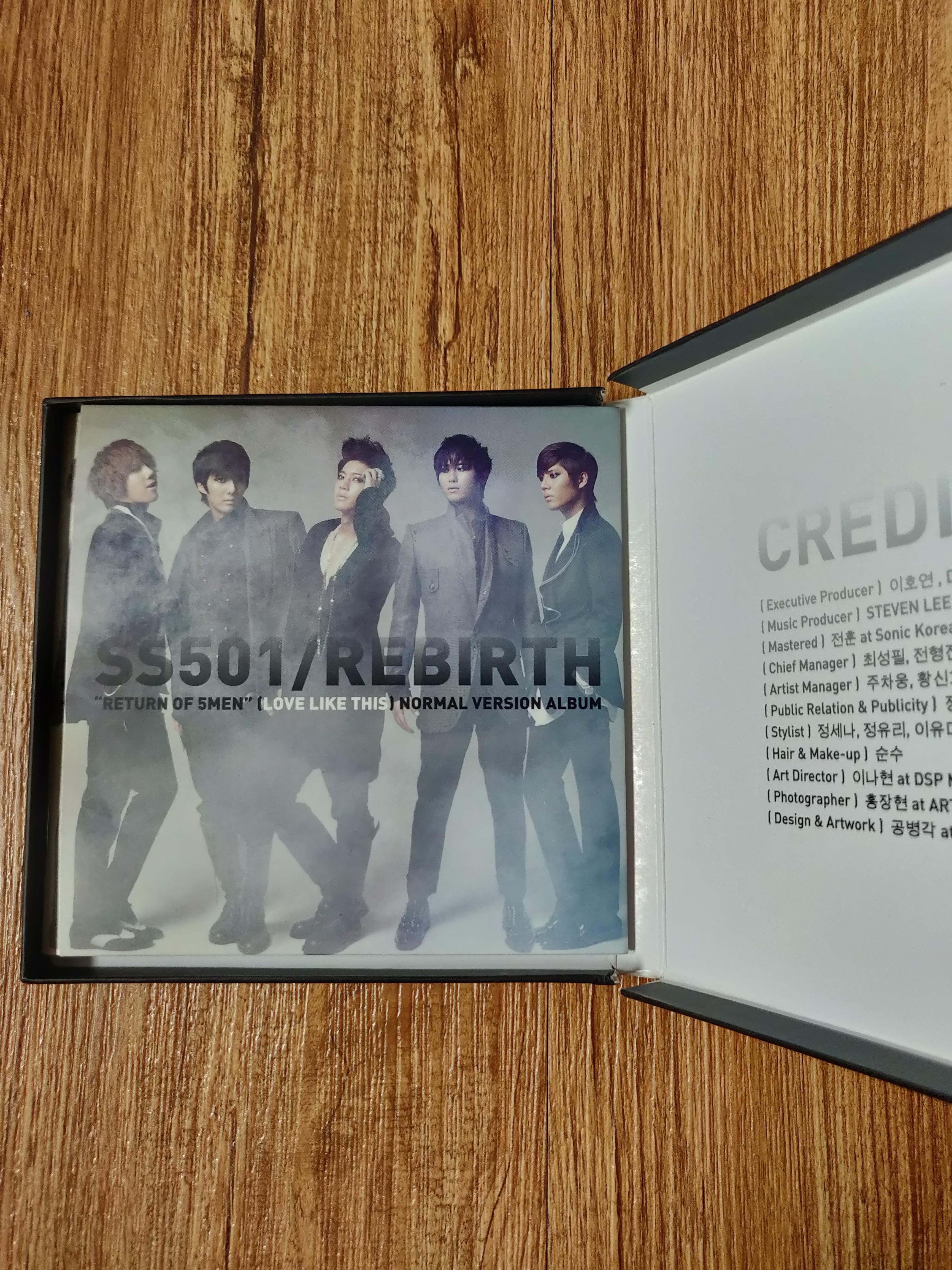 "SS501 REBIRTH ""return of 5 men"" Normal Version Album (asia edition)"
