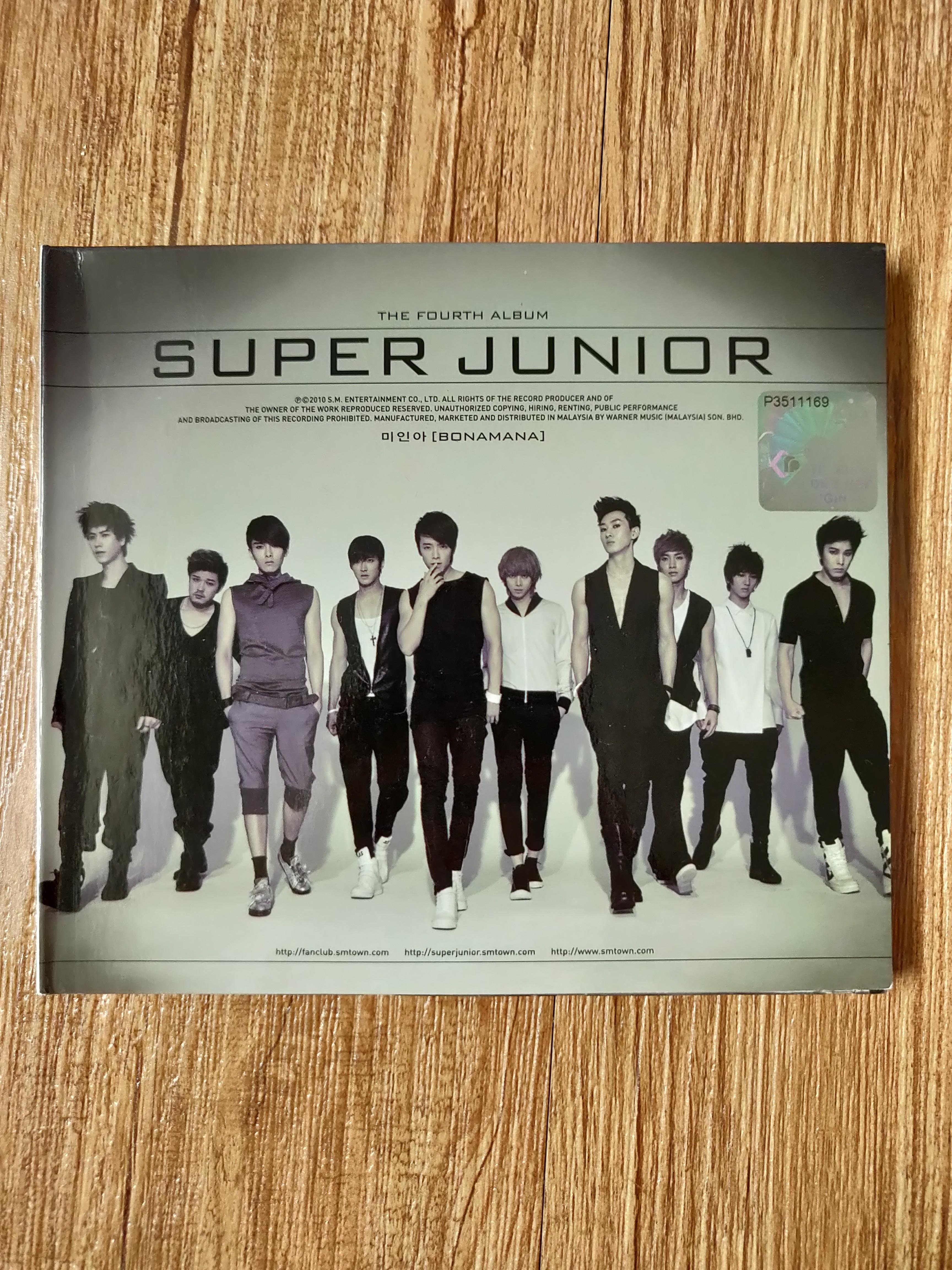 Super Junior the Fourth album repackage bonamana no other malaysia version