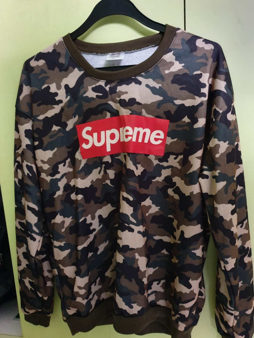 b75281466283 Supreme Camo pullover, Men's Fashion, Clothes, Tops on Carousell