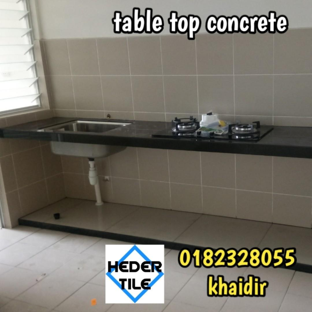 Table Top Kitchen Meja Dapur Konktit Home Furniture Others On Carousell