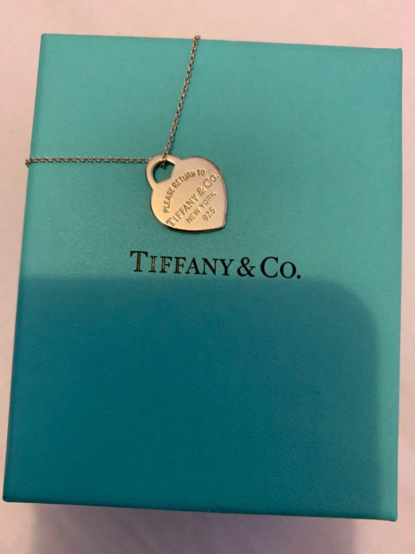 Tiffany & Co Return to Tiffany heart tag necklace and chain