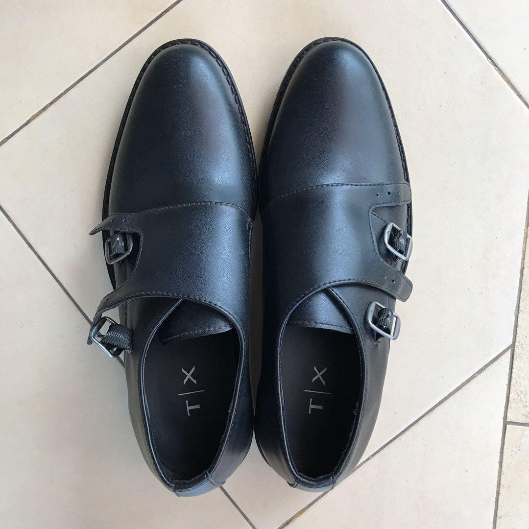 TX by Executive black pantofel sepatu kulit
