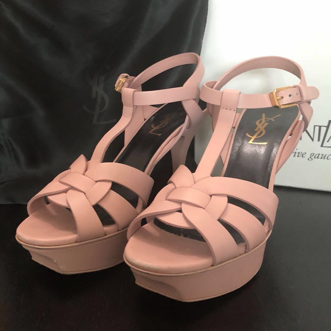 f8af97a0a08 YSL Tribute Sandals 75, Women's Fashion, Shoes, Flats & Sandals on Carousell