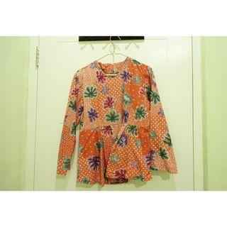 SALE Batik Ruffled Blouse