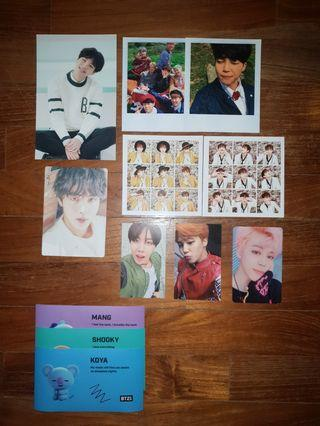BTS official photocards and postcards
