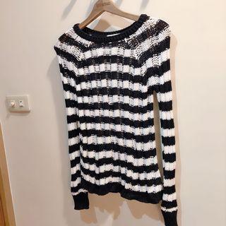 全新!snidel 日本專櫃品牌 條紋針織毛線上衣