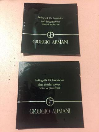 Giorgio Armani 濕粉底 2包(包郵)