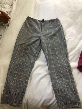Black and White Plaid Pants