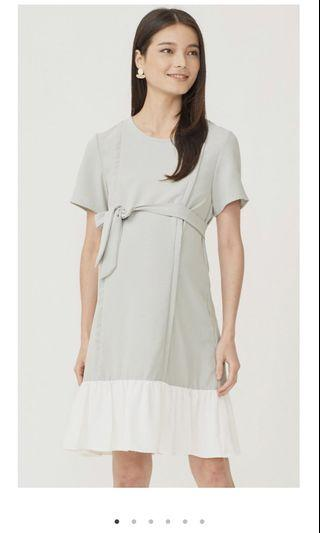 Dear collective laurie colorblock maternity nursing dress mint
