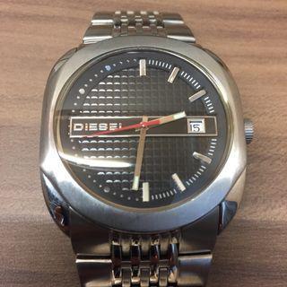 Diesel Watch Silver Carbon Fibre Look