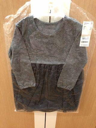 🚚 Uniclo toddler dress in grey size 100cm