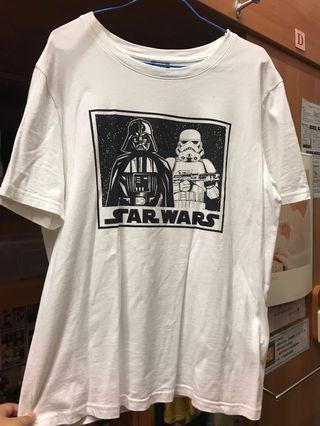 全新 Net Star Wars 白 T L