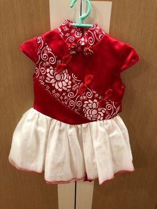 CNY dress for one year old