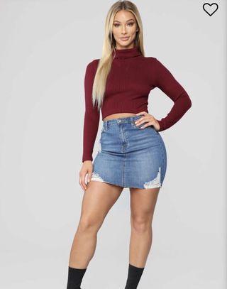 BNWT FashionNova Dayanna Denim Skirt - Medium Wash
