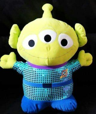 Sega Disney 迪士尼 Toy Story 反斗奇兵Alien 三眼仔 閃珠片 XL 大景品公仔 46cm高 全新正版有吊牌
