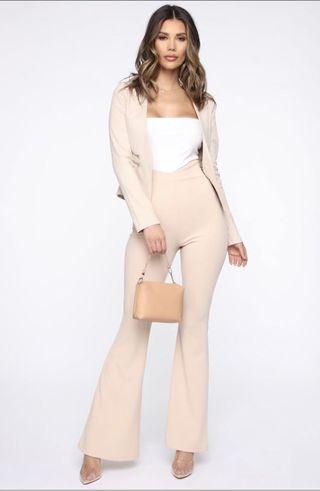 BN FashionNova Flare Game Pants - Taupe