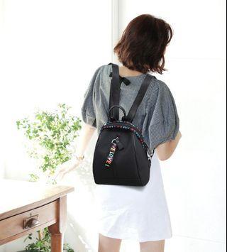 Tas Korea ransel wanita mini love color backpack