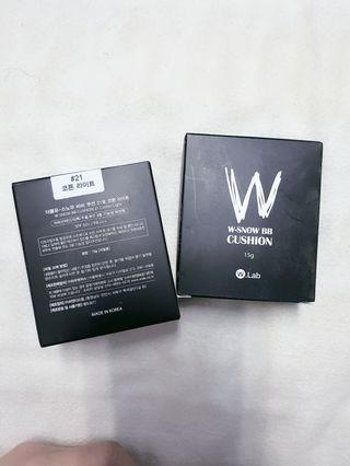 韓國買回來正品W.lab黑色雪霧氣墊粉餅&補充包