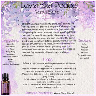 Lavender Peace Essential Oil (Normal Price: RM 195)