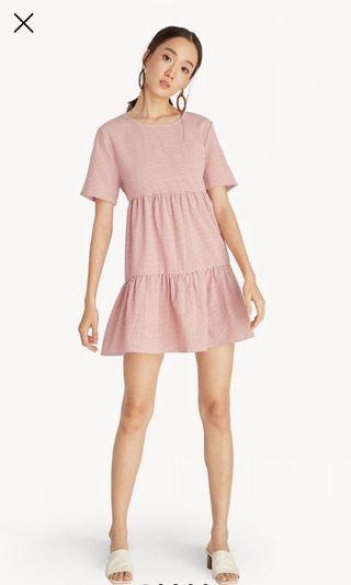 Mini Gingham Tiered Dress