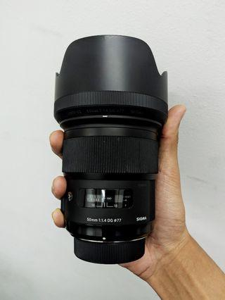 Like New Sigma 50mm 1.4 ART (Nikon)
