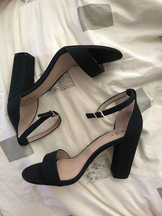 CALL IT SPRING - Black block heels size 6.5