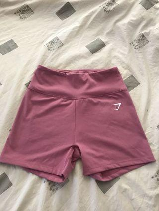 GYMSHARK NEVER WORN mauve shorts- size small