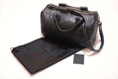 ORIGINAL Alexander Wang Pebbled Lambskin Rocco Black Bag - Bronze Hardware
