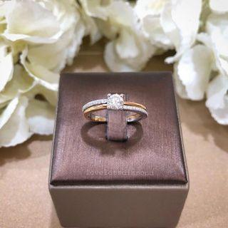 Duo tone solitaire Ring