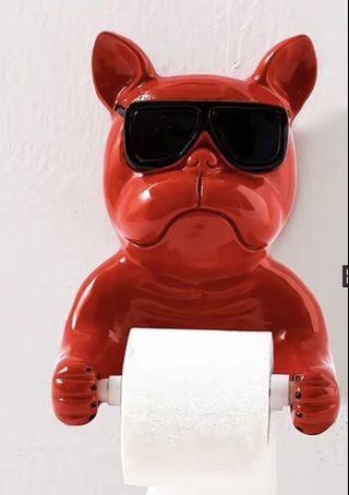 法國老虎 法鬥 廁巾架 廁紙架 Frenchie French bulldog toilet paper holder