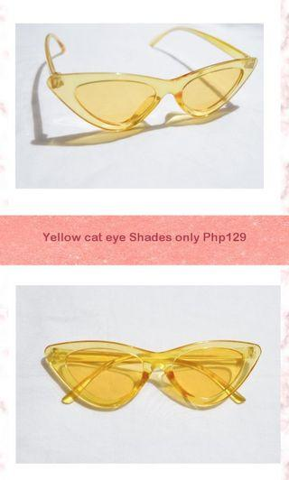 Yellow Cat eye Shades